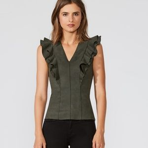 Bailey/44 Goldilocks Faux Suede Hunter Green Top